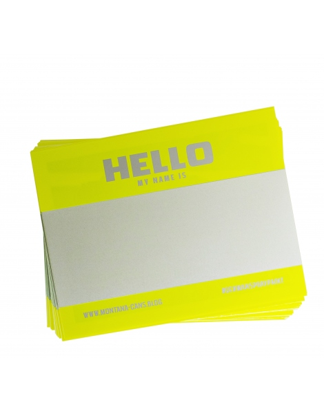 Hello My Name Is (Yellow Fluor)