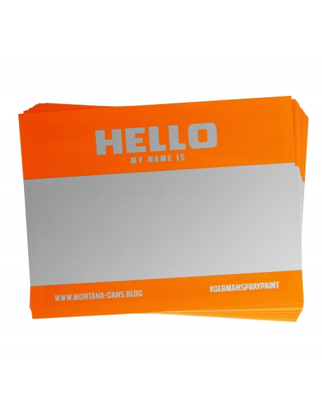 Hello My Name Is (Orange Fluor)