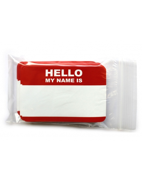 Hello My Name is  | Sticker Vermelho s/marcador